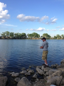 This is quite possibly my favorite picture of Jeremy. June 2014 fishing at Interstate Lake in Cozad, Nebraska